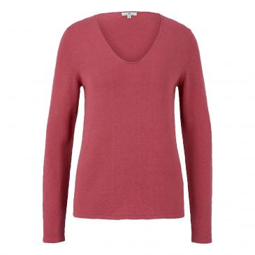 Tom Tailor Pullover - beere
