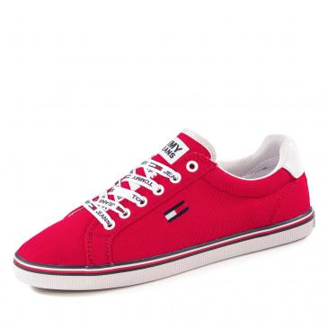 Tommy Jeans Essential Lace Up Sneaker - rot